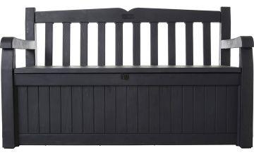 Keter Eden Bench 265L Garden Storage Box – Grey