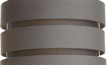 Argos Home 3 Tier 30cm Light Shade - Flint Grey