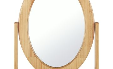 Argos Home Oval Dressing Table Mirror - Oak Effect