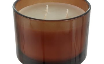 Argos Home Loft Multiwick Amber Glass Candle