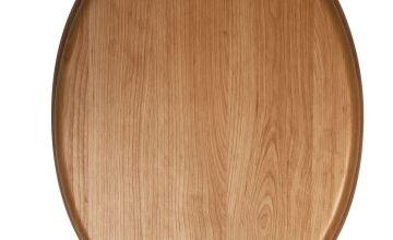 Croydex Moulded Wood Toilet Seat - Light Oak Effect