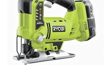 Ryobi R18JS-0 Cordless Jigsaw with 2Ah Battery & Charger