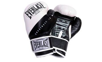Everlast 8oz Junior Boxing Gloves - Black and White