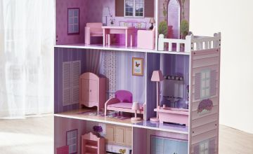 Teamson Kids Dreamland 12 inch Wooden Dolls House – Pink