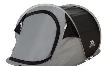 Trespass 2 Man 1 Room Pop Up Tunnel Camping Festival Tent
