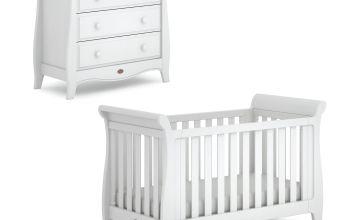 Boori Sleigh 2 Piece Nursery Furniture Set - White