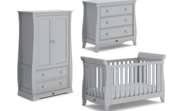 Boori Sleigh 3 Piece Nursery Furniture Set - Pebble