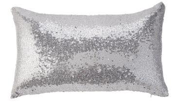 Argos Home Sequin Cushion - Silver
