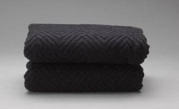 Argos Home Pair of Lurex Hand Towels