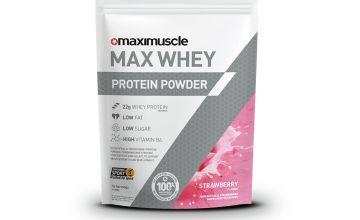 Maximuscle Strawberry Whey Protein Powder - 480g