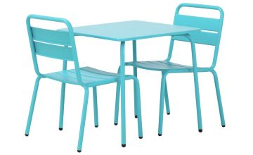 Argos Home Kids 2 Seater Metal Bistro Set - Blue