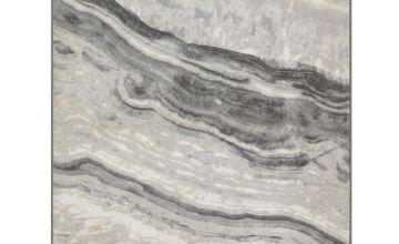 Argos Home Glam Marble Rug - 120x170cm - Grey