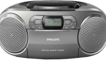 Philips AZB600 Cassette Boombox - Black
