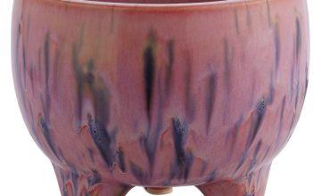 Habitat Shiloh Footed Plant Pot - Pink