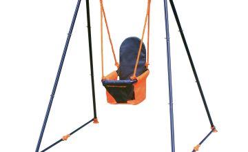 Hedstrom Fast Fold Toddler Swing - Blue and Orange