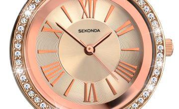 Sekonda Editions Ladies Rose Gold Colour Bracelet Watch