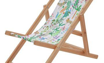 Party Animals Kids Wooden Deck Chair