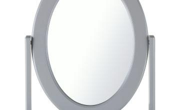 Argos Home Oval Dressing Table Mirror - Grey