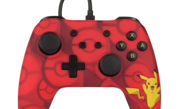 Nintendo Switch Pro Style Wired Controller - Red Pikachu