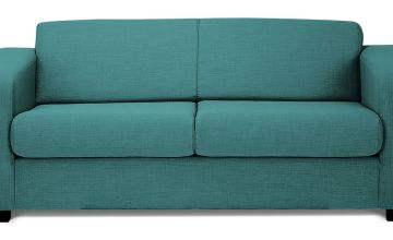 Argos Home Ava Compact 3 Seater Fabric Sofa - Teal