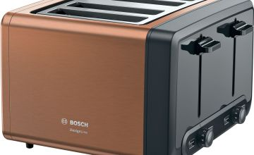 Bosch TAT4P449GB DesignLine 4 Slice Toaster - Copper