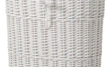 Argos Home Willow 60 Litres Linen Bin - White