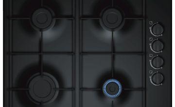 Bosch PBP6B6B60 Cast Iron Support Gas Hob - Black