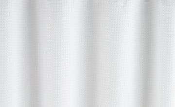 Argos Home Waffle Shower Curtain - White