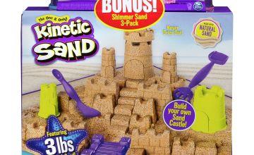 Kinetic Sand Beach Sand Kingdom & Shimmering Sand Multipack