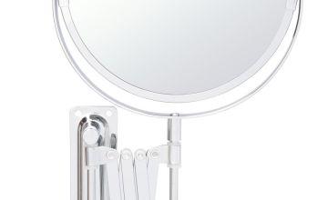 Argos Home Extending Wall Mounted Shaver Mirror