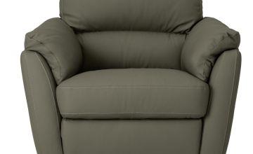 Argos Home New Trieste Leather Mix Armchair - Grey