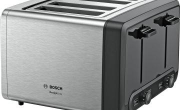 Bosch TAT4P440GB DesignLine 4 Slice Toaster - S/Steel