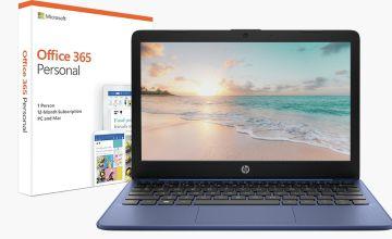 HP Stream 11.6 Inch Celeron 2GB 32GB Cloudbook - Blue