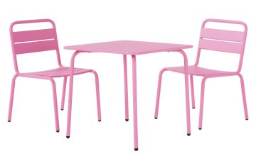 Argos Home Kids 2 Seater Metal Bistro Set - Pink