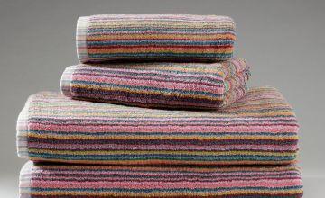 Argos Home 4 Piece Skinny Stripe Towel Bale