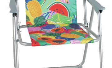 Argos Home Metal Folding Picnic Chair - Ipanema Fruit