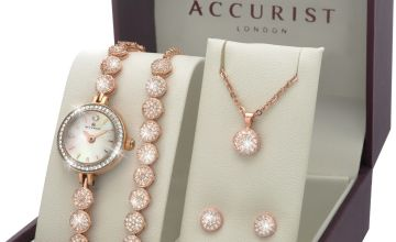 Accurist Ladies Stylish 4 Bling Piece Gift Set