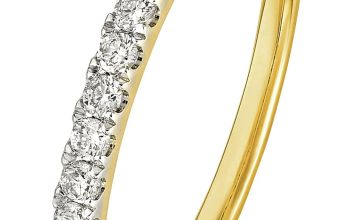 Revere 9ct Gold 0.25ct Diamond Claw Set Eternity Ring