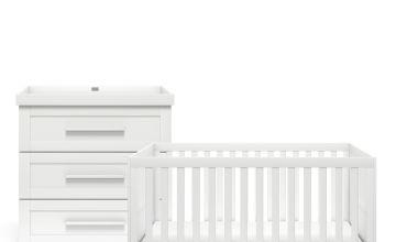 Silver Cross Derwent 2 Piece Nursery Furniture Set - White