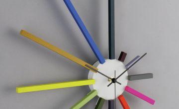 Habitat Spectrum Wall Clock - Multicoloured