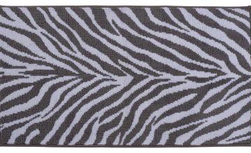 Argos Home Zebra Bath Mat - Grey