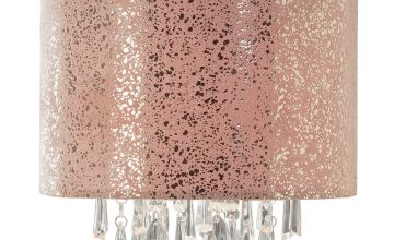 Argos Home Fil Faux Suede & Beaded Lampshade