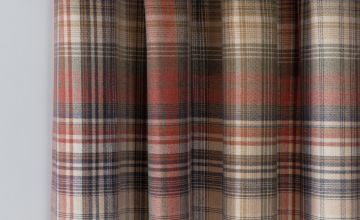 Argos Home Brushed Check Fully Lined Eyelet Curtains