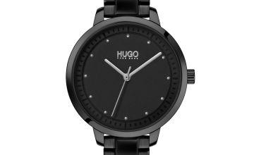 HUGO Ladies Achieve Black Stainless Steel Bracelet Watch