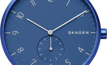 Skagen Aaren Kulor Blue Silicone Strap Watch
