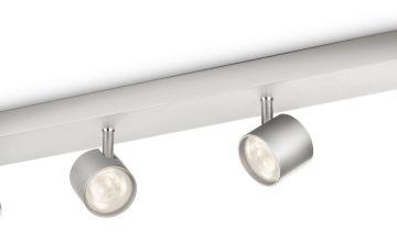 Philips myLiving LED Bar 4 Ceiling Spot Lights - Aluminium.