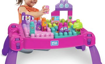 Mega Bloks Build n Learn Table – Pink