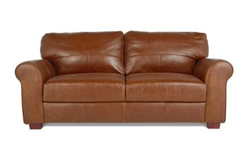 Argos Home Salisbury 3 Seater Leather Sofa - Tan
