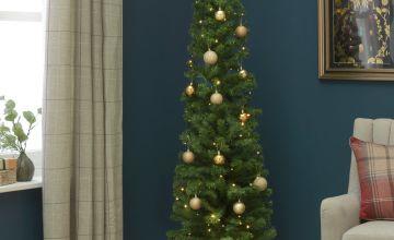 Argos Home 6ft Pencil Christmas Tree - Green