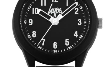 Hype  Black and White Splatter Silicone Strap Watch